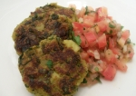 Spinach-Ginger Patties with Tomato Relish