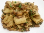 Stir Fried Pasta Potato and Peas