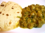 Chickpeas and Methi leaf Curry